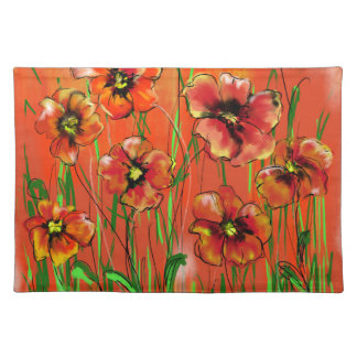 poppy day placemat