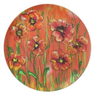 poppy day plate