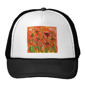 poppy day trucker hat