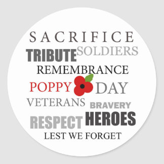 Poppy day words - Sticker