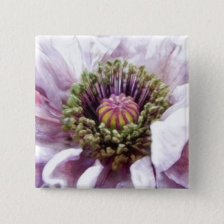 Poppy - Elegant Purple Ruffles 2 Inch Square Button