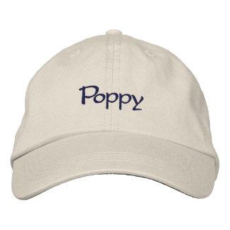 Poppy Embroidered Baseball Cap