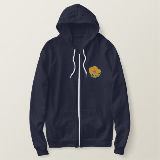 Poppy Embroidered Hoodie