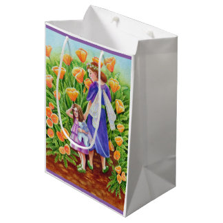 Poppy Fairies with Unicorn Toy Medium Gift Bag