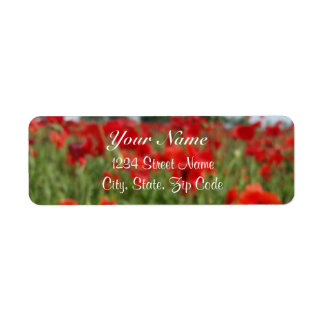 Poppy Field Address Labels