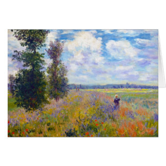 Poppy Field, Argenteuil, 1875 Claude Monet Card