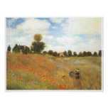 Poppy Field at Argenteuil, 1873 Posters