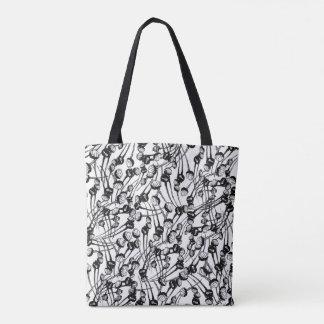 Poppy Field Black Tote Bag