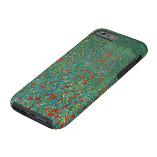 Poppy Field by Gustav Klimt, Vintage Art Nouveau Tough iPhone 6 Case
