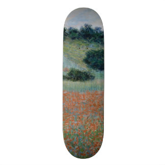 Poppy Field in a Hollow Near Giverny by Monet Skate Board Decks