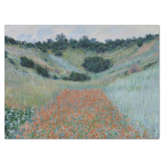 Poppy Field in a Hollow Near Giverny by Monet Tissue Paper