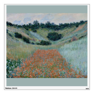 Poppy Field in a Hollow Near Giverny by Monet Wall Decal