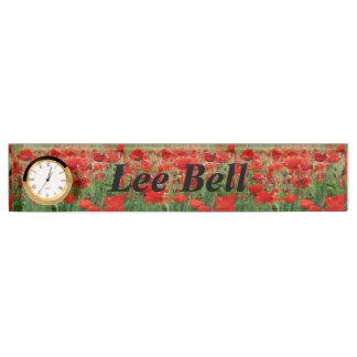 Poppy Field Name Plate