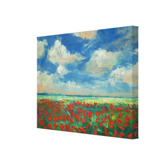 Poppy Field Painting Canvas Print