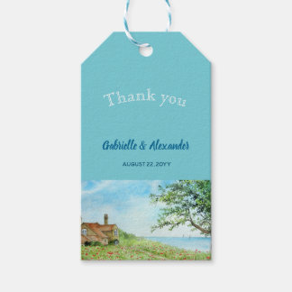 Poppy Field Watercolor Wedding Favor Thank You Gift Tags
