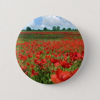 Poppy Fields 2 Inch Round Button