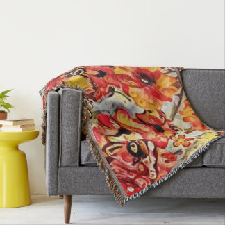 Poppy Fields- Design 1 throw blanket