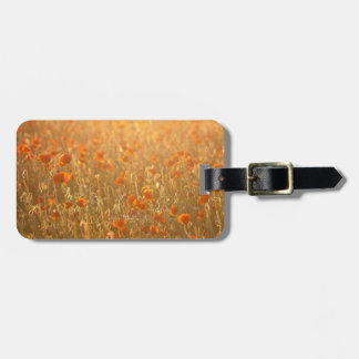 Poppy fields in the sunshine luggage tag