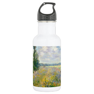 Poppy Fields near Argenteuil by Claude Monet 532 Ml Water Bottle