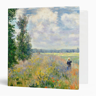 Poppy Fields near Argenteuil by Claude Monet Binder