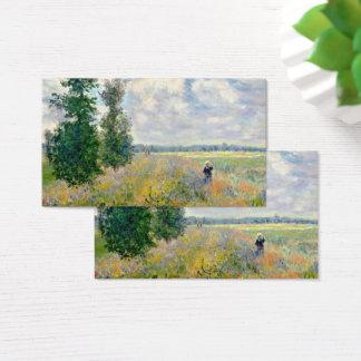 Poppy Fields near Argenteuil by Claude Monet Business Card