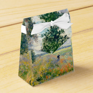 Poppy Fields near Argenteuil by Claude Monet Favor Box
