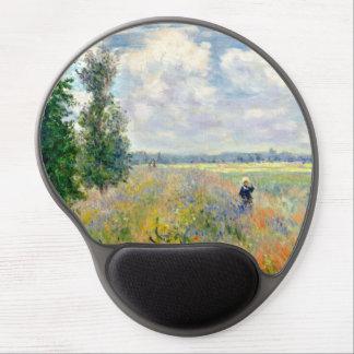 Poppy Fields near Argenteuil by Claude Monet Gel Mouse Pad