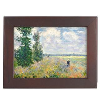Poppy Fields near Argenteuil by Claude Monet Keepsake Box