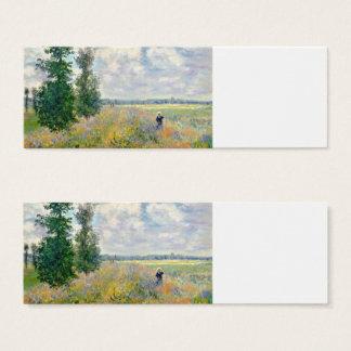 Poppy Fields near Argenteuil by Claude Monet Mini Business Card