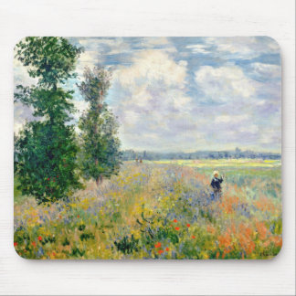 Poppy Fields near Argenteuil by Claude Monet Mouse Pad