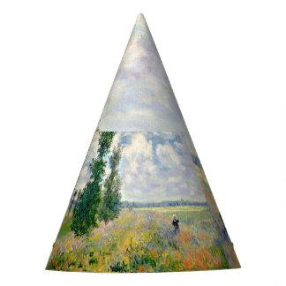 Poppy Fields near Argenteuil by Claude Monet Party Hat