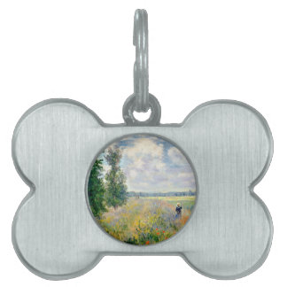 Poppy Fields near Argenteuil by Claude Monet Pet Tag