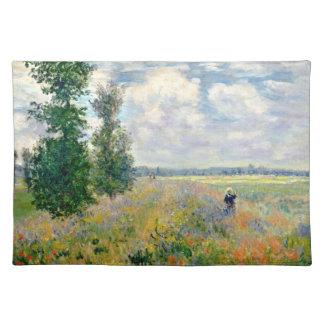 Poppy Fields near Argenteuil by Claude Monet Placemat
