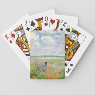 Poppy Fields near Argenteuil by Claude Monet Playing Cards