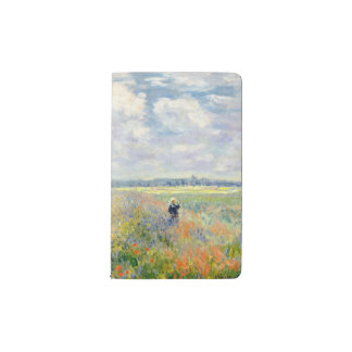 Poppy Fields near Argenteuil by Claude Monet Pocket Moleskine Notebook
