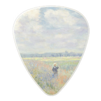 Poppy Fields near Argenteuil by Claude Monet Polycarbonate Guitar Pick