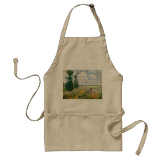Poppy Fields near Argenteuil by Claude Monet Standard Apron
