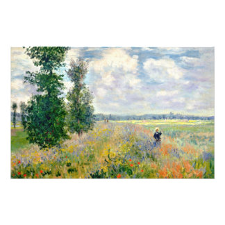 Poppy Fields near Argenteuil by Claude Monet Stationery