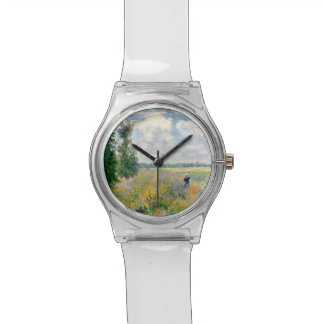 Poppy Fields near Argenteuil by Claude Monet Watch