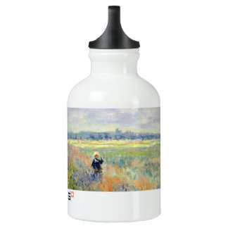 Poppy Fields near Argenteuil by Claude Monet Water Bottle