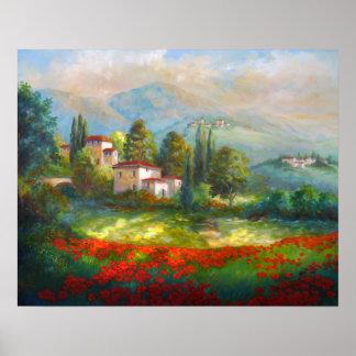 Poppy Fields of Italy Poster