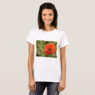 Poppy flower - basic T-shirt