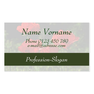 Poppy flower business card template