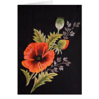 Poppy Flower Card