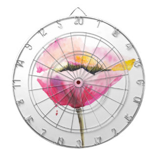 Poppy flower dartboard