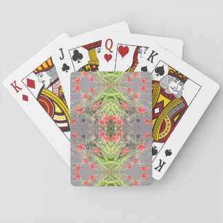 Poppy Flower Fractal Playing Cards