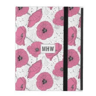 Poppy Flower Pattern custom monogram device cases