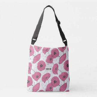 Poppy Flowers custom monogram bags