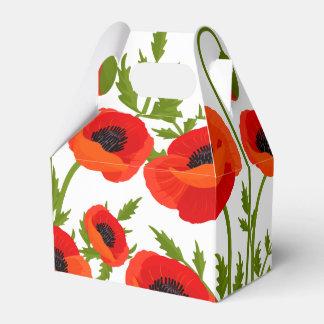 Poppy Flowers Favor Box