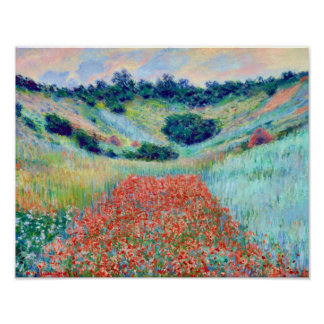 Poppy Flowers in a Field, Claude Monet Poster